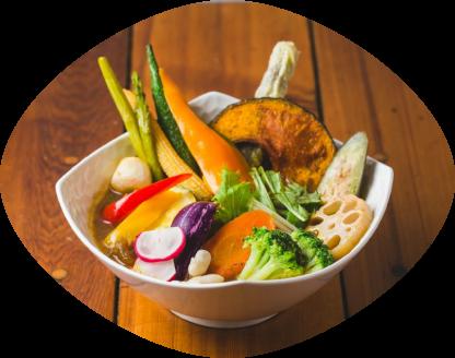 牛すじと16品目野菜のスープカレー